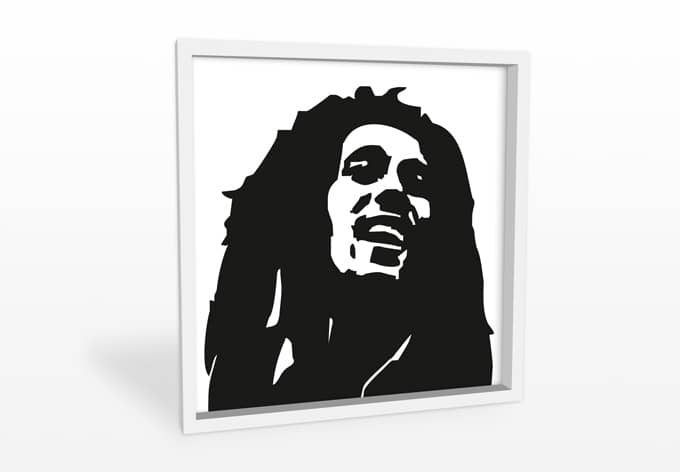 hartschaum wandbild bob marley 1 wall. Black Bedroom Furniture Sets. Home Design Ideas