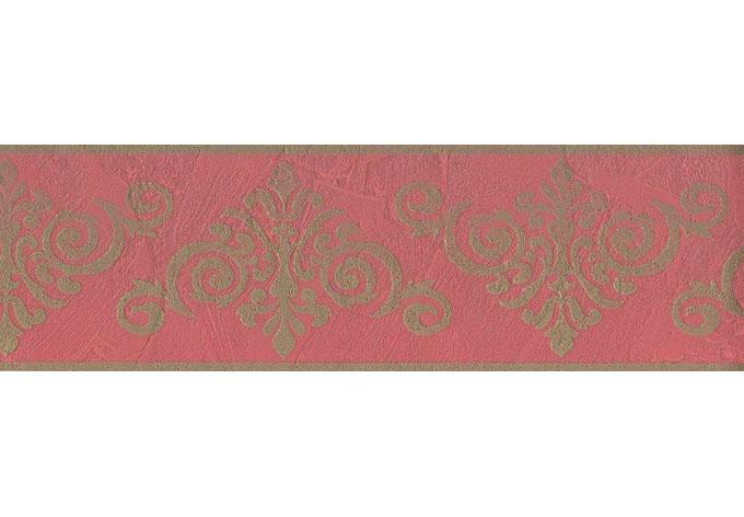 Romantische Tapeten Bord?ren : Borte Ornament pink grau – sch?ne Bord?re f?r die Zimmerdekoration