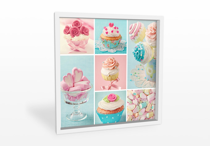 wanddecoratie cupcakecollage vierkant wallartnl
