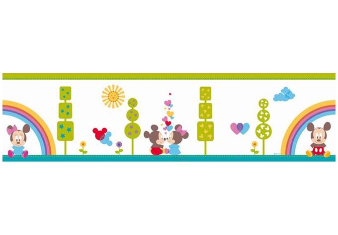 Adesivo murale bordo decorativo topolino e minnie baby for Bordo adesivo decorativo