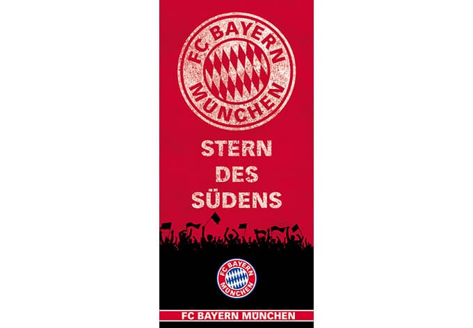 fc bayern m nchen wandbild stern des s dens 889208 rot wall. Black Bedroom Furniture Sets. Home Design Ideas