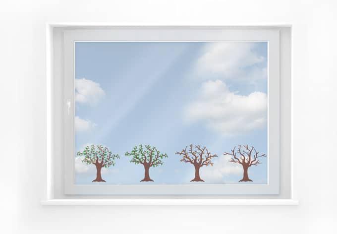 Fensterbild Vier Jahreszeiten