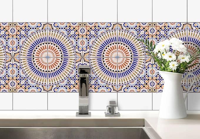 Sticker carrelage style oriental wall for Carrelage oriental