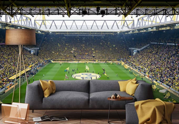 fototapete bvb fan choreo wall. Black Bedroom Furniture Sets. Home Design Ideas