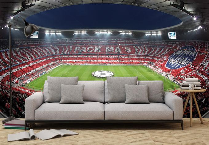 Kinderzimmer Tapeten M?nchen : Fototapete Bayern M?nchen Stadion Choreo Pack Mas wall-art.de