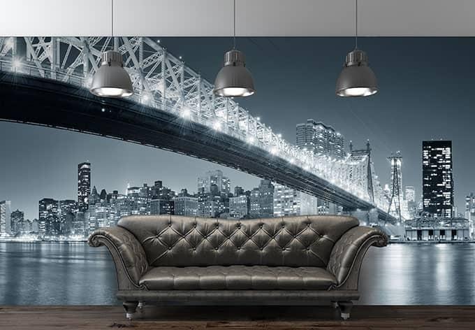 fototapete vliestapete new york at night 3 exklusiv aus der wall art kollektion wall. Black Bedroom Furniture Sets. Home Design Ideas