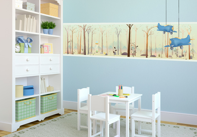fototapete der kleine au erirdische f r das kinderzimmer wall. Black Bedroom Furniture Sets. Home Design Ideas