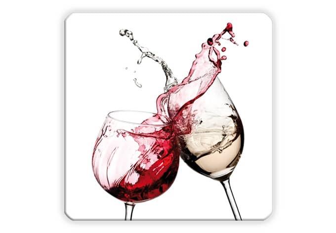 Wall Decor Wine Glasses : Wine glasses square glass art wall