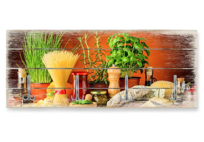 Italiaanse Keuken Teksten : Houten Garderobe Italiaanse Keuken – wall-art.nl
