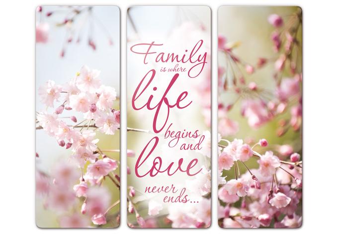 Tableau en verre family is wall for Tableau en 3 parties
