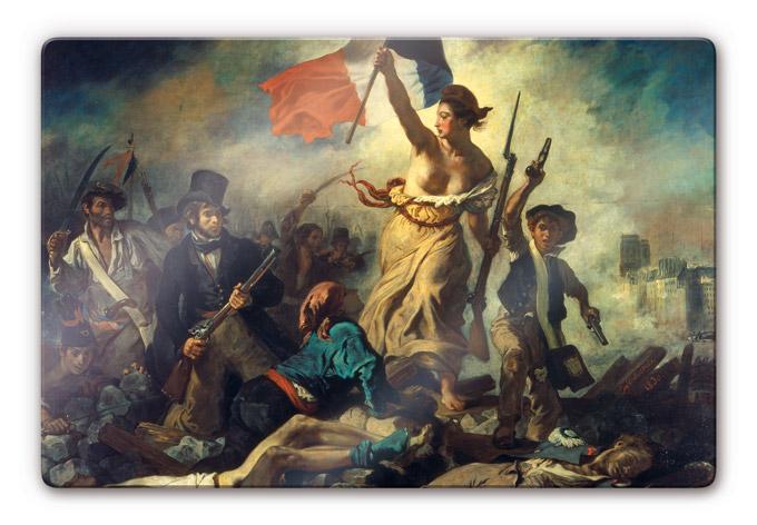 Tableau en verre - Delacroix - - wall-art.fr