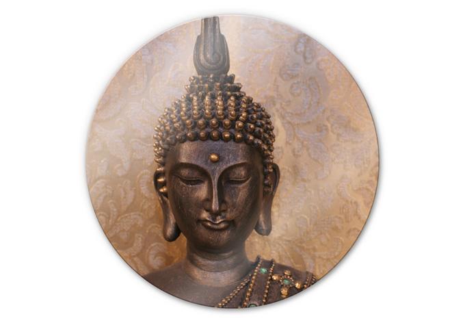 glasschilderijen wijze boeddha rond glasschilderij wijze boeddha rond