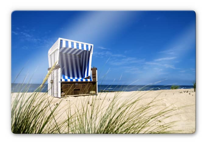 beach chair glass art wall. Black Bedroom Furniture Sets. Home Design Ideas