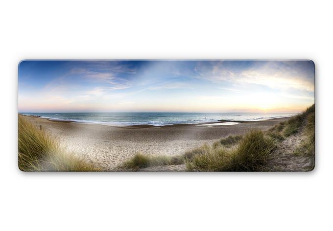 Glasbild Strandpanorama - Strandidyll fu00fcr das Wohnzimmer : wall-art ...