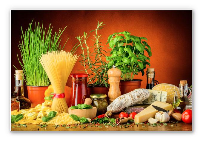 Italiaanse Keuken Teksten : italiaanse keuken prachtig wandbord voor in de keuken of een