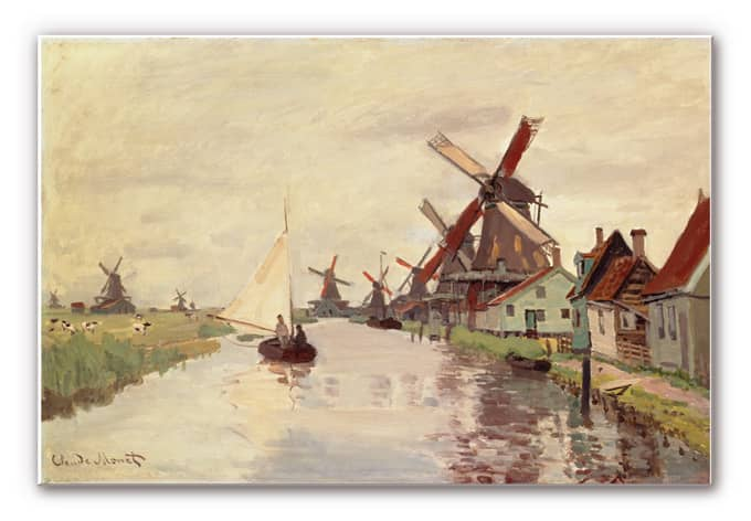 Wanddecoratie Monet - Hollands Landschap - wall-art.nl