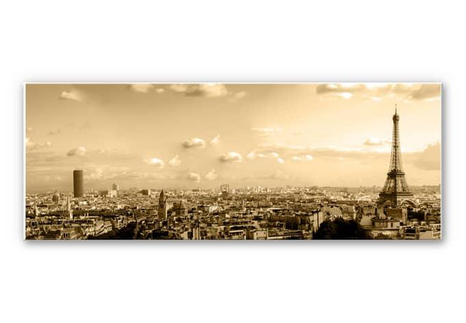 panorama wandbild paris skyline wall. Black Bedroom Furniture Sets. Home Design Ideas