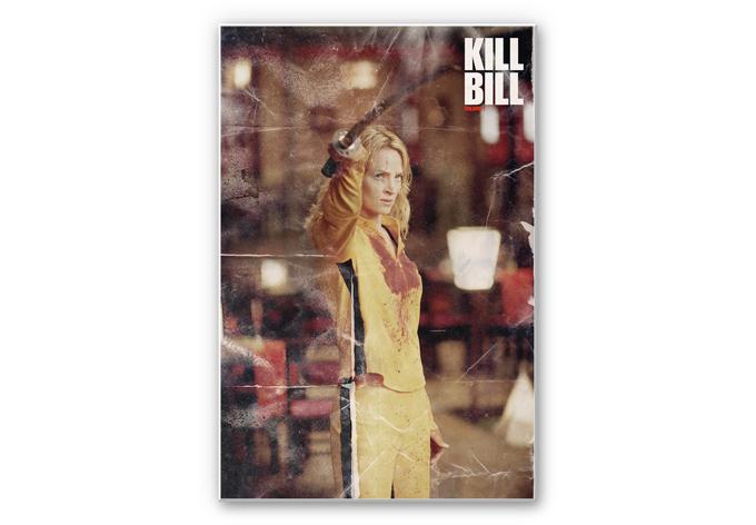 wanddecoratie kill bill the bride wallartnl