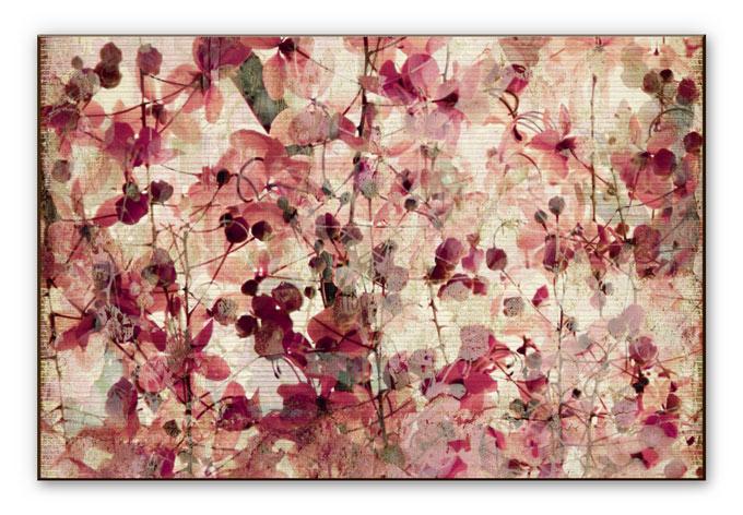 wanddecoratie hdf vintage bloemen wall. Black Bedroom Furniture Sets. Home Design Ideas