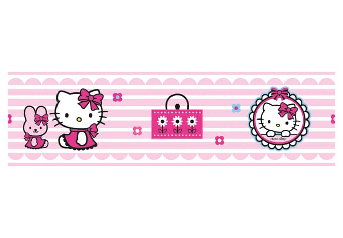Vorhange Kinderzimmer Hello Kitty : Hello Kitty Border Wall sticker  wallartcom