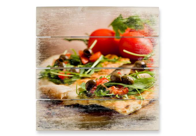 Italiaanse Keuken Teksten : houten wanddecoratie italiaanse pizza de italiaanse keuken