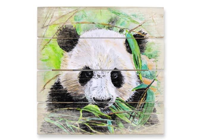 Houten Wanddecoratie Toetzke - Pandabeer - wall-art.nl