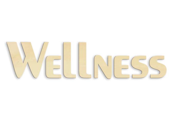 Houten Tekst Wellness - wall-art.nl