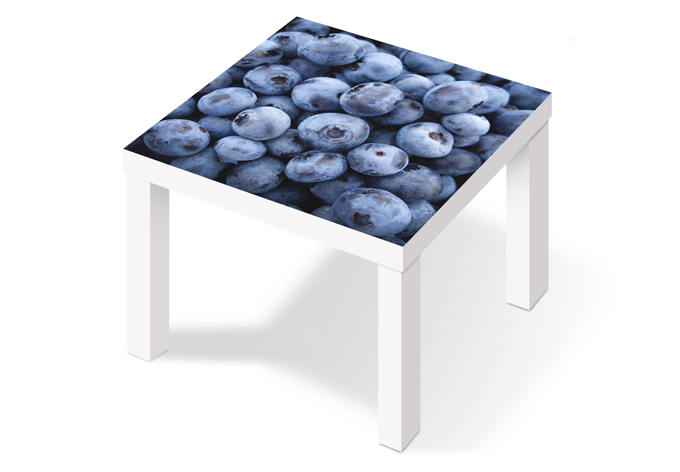 M belfolie f r ikea lack blaubeeren wall for Tisch klebefolie