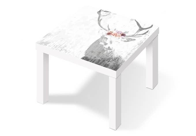 Pellicola adesiva cervo e fiori wall - Pellicola adesiva per mobili ikea ...