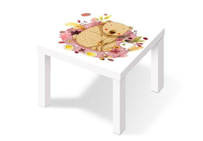 Klebefolie loske b r mit honigtopf wall for Klebefolie tisch