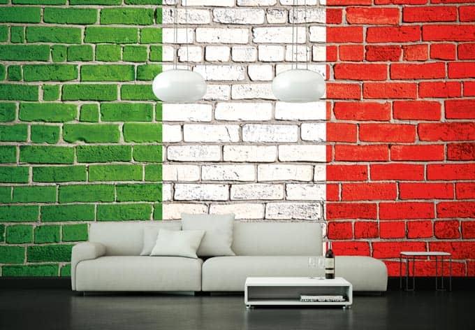 fototapete vliestapete italienische flagge exklusiv aus der wall art kollektion wall. Black Bedroom Furniture Sets. Home Design Ideas