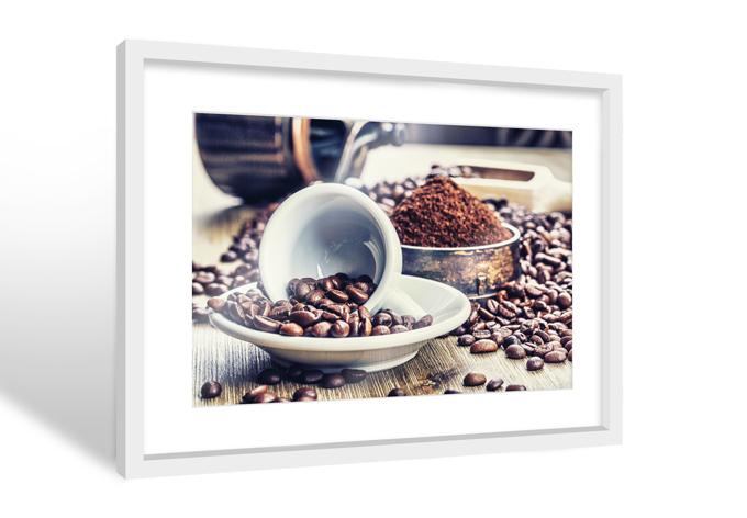 hochwertiger galerie rahmen mit dem poster kaffee tr ume wall. Black Bedroom Furniture Sets. Home Design Ideas