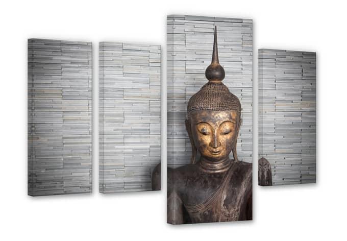 Tableau sur toile bouddha tha landais wall for Fenetre 50x120