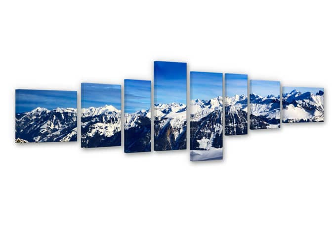 View on the Alps Canvas print (8 parts)