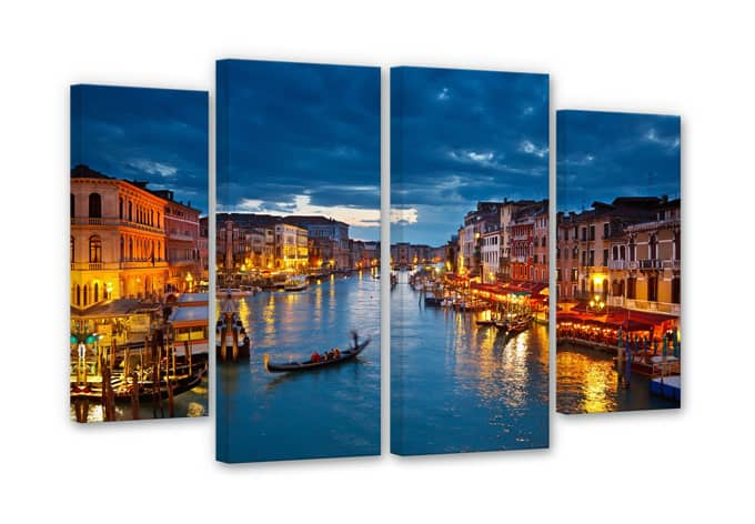 Grand Canal in Venice (4 parts ) Canvas print