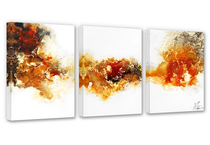 Fedrau - Liquid Gold 4 (3 parts) Canvas print