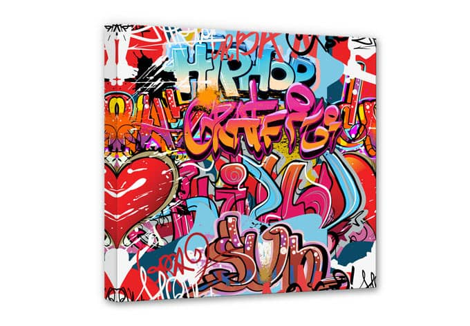 hip hop graffiti canvas print wall. Black Bedroom Furniture Sets. Home Design Ideas