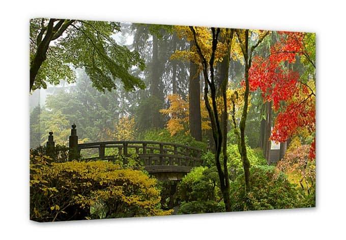 canvas japanse tuin wall
