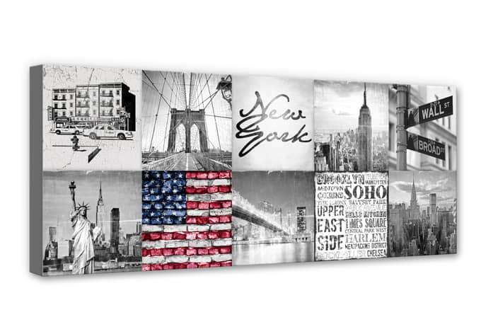 canvas new york city life wall. Black Bedroom Furniture Sets. Home Design Ideas