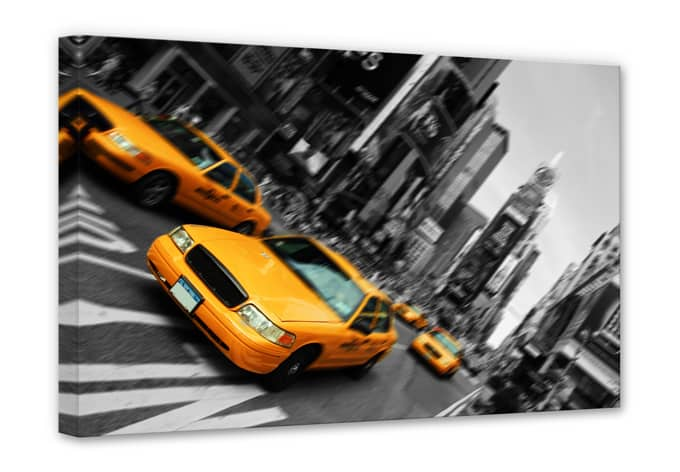 leinwand new york taxi stylischer look f r ihre w nde wall. Black Bedroom Furniture Sets. Home Design Ideas