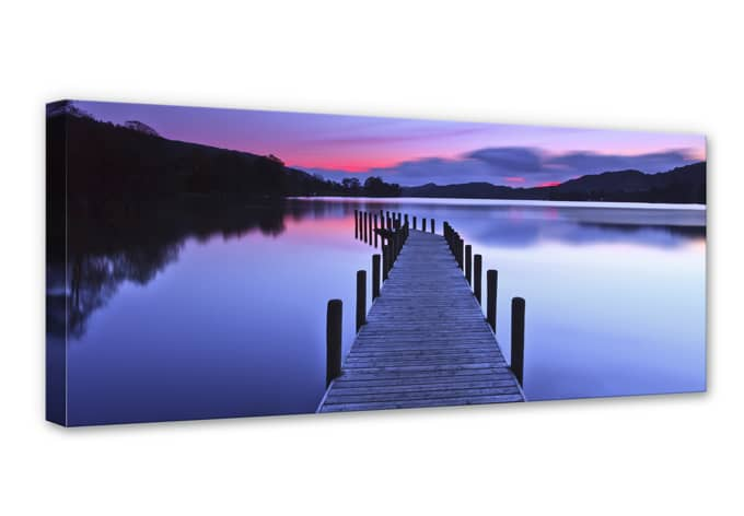 lake panorama canvas print wall. Black Bedroom Furniture Sets. Home Design Ideas