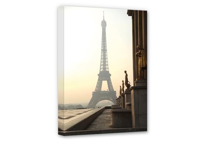 bonjour paris canvas print wall