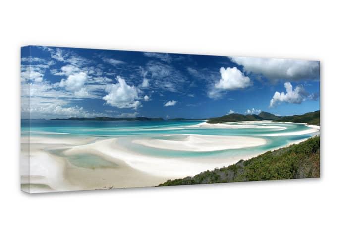 whitehaven beach canvas print wall. Black Bedroom Furniture Sets. Home Design Ideas