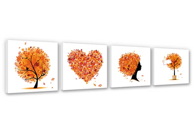 Autumn Quartet Canvas Print