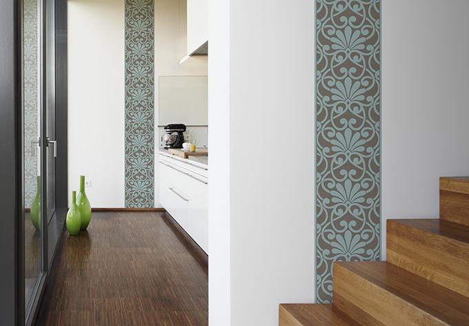 livingwalls dekopanel panel blue brown wall. Black Bedroom Furniture Sets. Home Design Ideas