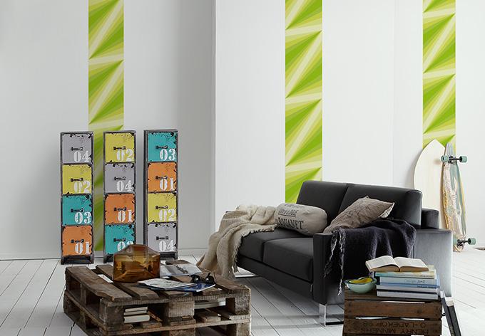 livingwalls dekopanel panel yellow green wall. Black Bedroom Furniture Sets. Home Design Ideas