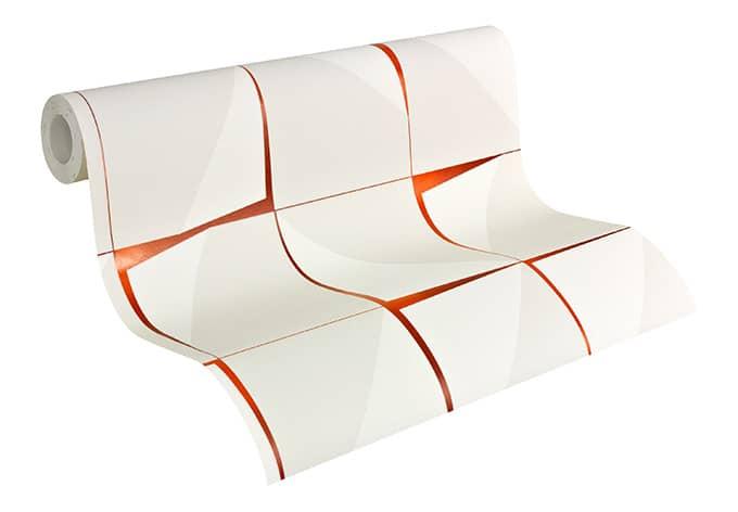 Papier peint intiss livingwalls aisslinger orange wall for Papier peint vinyle intisse cuisine