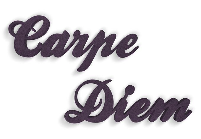 lettere in legno mdf : Lettere in legno MDF Carpe Diem wall-art.it