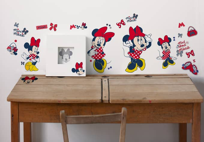 minnie mouse set wall sticker wall. Black Bedroom Furniture Sets. Home Design Ideas