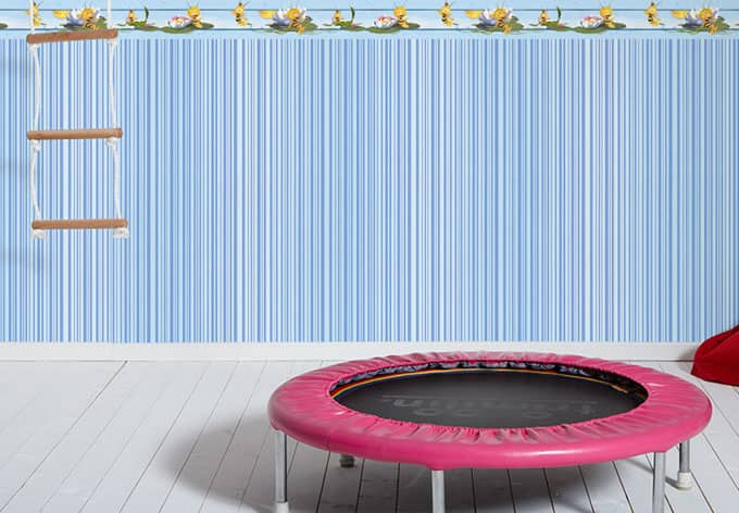 Kindertapeten Biene Maja : Papiertapete Kids best Friends – Die Biene Maya Blau wall-art.de